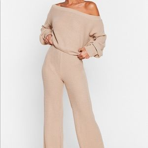 White Sweater and Pants Co-Ord Set
